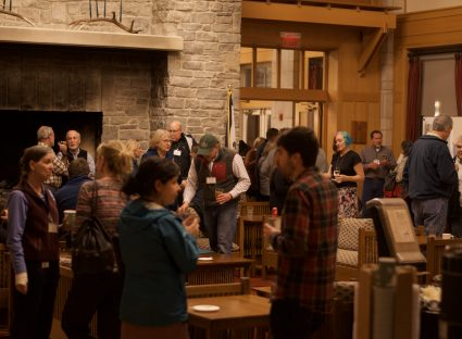 Evening welcome reception at the 2017 National Forum on Landscape Conservation. Photo by Jonathan Peterson.